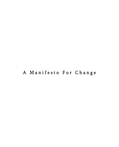 Manifesto for Change - Tom Martin