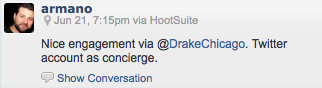 DrakeHotel Twitter Engagement