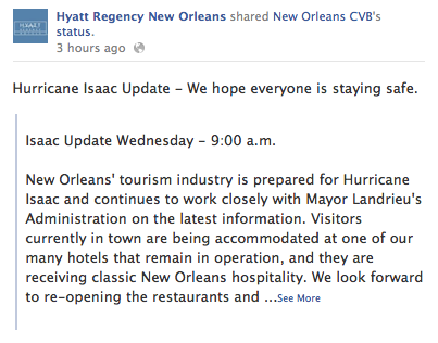 Brand Journalism Coverage of Hurricane Isaac